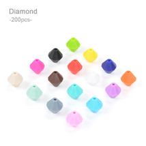 200pcs/lot Silicone Beads Loose Necklace Teething Chew Food Grade Jewelr... - $590,48 MXN