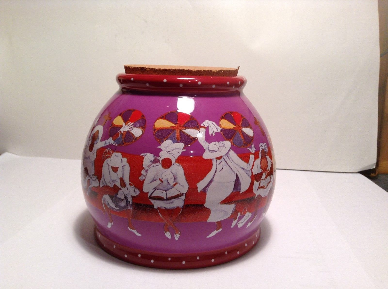 NEW Annie Lee Sass in Glass Purple Red Corked Worship Jar