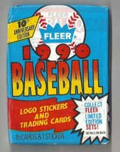 1990 Fleer Baseball Wax Packs - Unopened Lot of 2 - $1.97