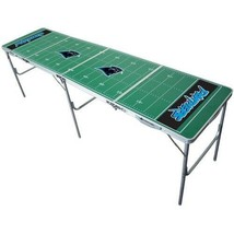 Carolina Panthers Beer Pong Table 2ft x 8ft Foldable NFL Football Field ... - $146.97