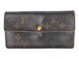 Louis Vuitton Long Wallet Purse Brown Portefeuille Sarah Monogram France... - $178.00