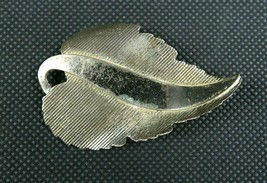 "Vintage DANECRAFT Sterling Silver Leaf Brooch 2 1/4"" - $35.00"
