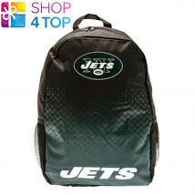 NEW YORK JETS BACKPACK TRAVEL BAG BLACK NFL AMERICAN FOOTBALL TEAM NEW - ₹1,763.01 INR