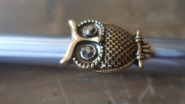 Large Brass Colored OWL Ring Size 8 - $15.34