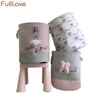 FULLLOVE® 35*40cm Pink Laundry Basket For Dirty Clothes Cotton Ballet Gi... - $25.38