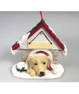 Dog Christmas Ornament Yellow Lab labrador magnet Personalize pet gift - $27.58