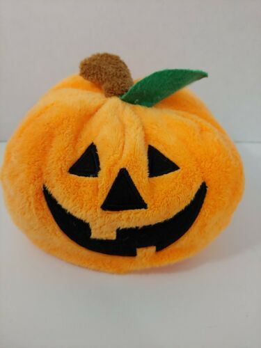 Primary image for Ty Pluffies Pumpkin Plush Plumpkin 2004 Tylux Halloween Jack O Lantern baby safe
