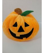 Ty Pluffies Pumpkin Plush Plumpkin 2004 Tylux Halloween Jack O Lantern b... - $9.89