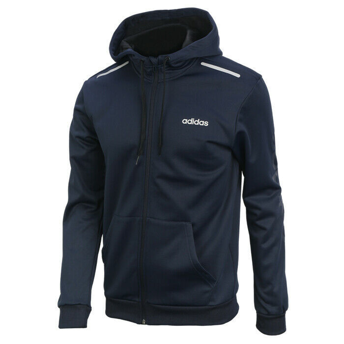 adidas GU Full Zip Climawarm Hoodie Long Sleeve Training Athletic Navy EI5608 - $60.99