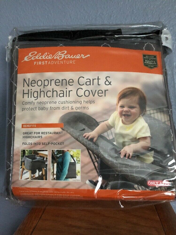 Primary image for Eddie Bauer® Neoprene Shopping Cart High Chair Cover New