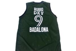 Ricky Rubio #9 Spain Espana Badalona Men Basketball Jersey Green Any Size image 5