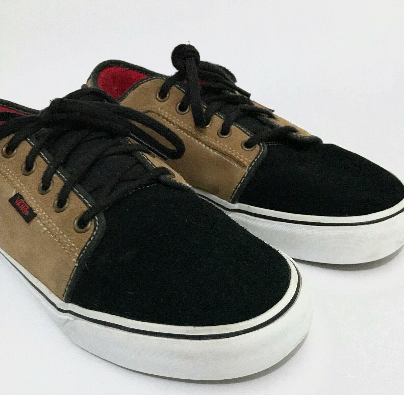 Vans Shoes Mens Size 10 Tan Brown Black Lo - Rare Colorway!