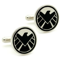 S.H.I.E.L.D. Cufflinks Super Hero Comic W Gift Bag Pair Shield Avengers Agents - $8.79