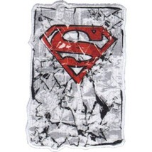 Superman S Chest Logo Cracked Style Embroidered Patch NEW UNUSED #0104 - $7.84