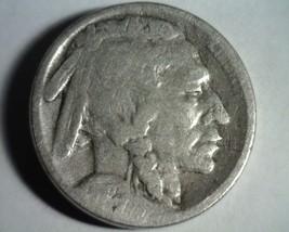 1923-S Buffalo Nickel Reverse Mint Struck Thur By Five Good G Nice Original Coin - $14.00