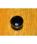Black Agate Gem Cut Ear Plug 00G Faceted Circle Stud Earring Unisex - $5.59