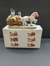 Vintage Christmas Geo Z Lefton 1987 Colonial Village Horse & Carriage TS... - $11.39