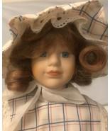 """Vintage Porcelain  And Felt Cloth Doll 16"""" - $14.03"""