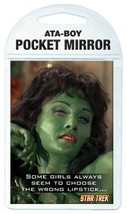 Classic Star Trek Pilot Episode Orion Slave Girl and Quote Pocket Mirror... - $7.84