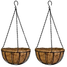 Kingbuy Hanging Basket Planter Metal with Coconut Coir Liner Wire Plant ... - $16.26