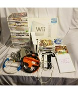 Large Nintendo Wii Lot - Complete Wii 2 Remotes 33 Games Wheels Super Ma... - $134.99