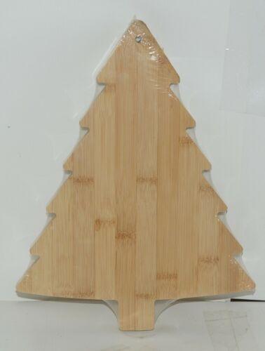 Ganz EX26790 Christmas Tree Shape Bamboo Cheese Board Spreader