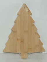 Ganz EX26790 Christmas Tree Shape Bamboo Cheese Board Spreader image 1