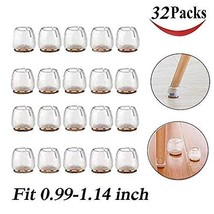 32 Pack Chair Leg Caps Silicone Floor Protector Round Furniture Table Fe... - $9.57
