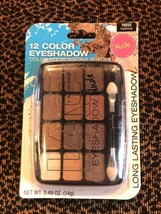 L.A. Colors Eye Shadow Nudes 10033 Traditional Palette, New Makeup, 12 Colors - $13.84