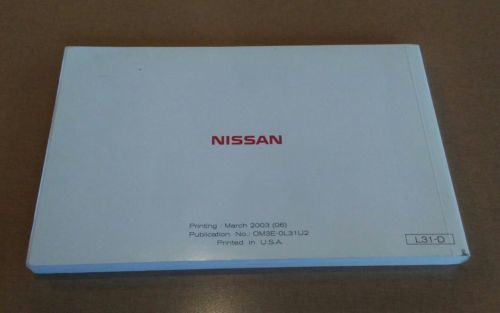 2003 nissan altima owner manual