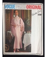 Vintage Vogue Paris Original Pattern 2230 Dior Evening Dress Stole Uncut 10 - $36.27