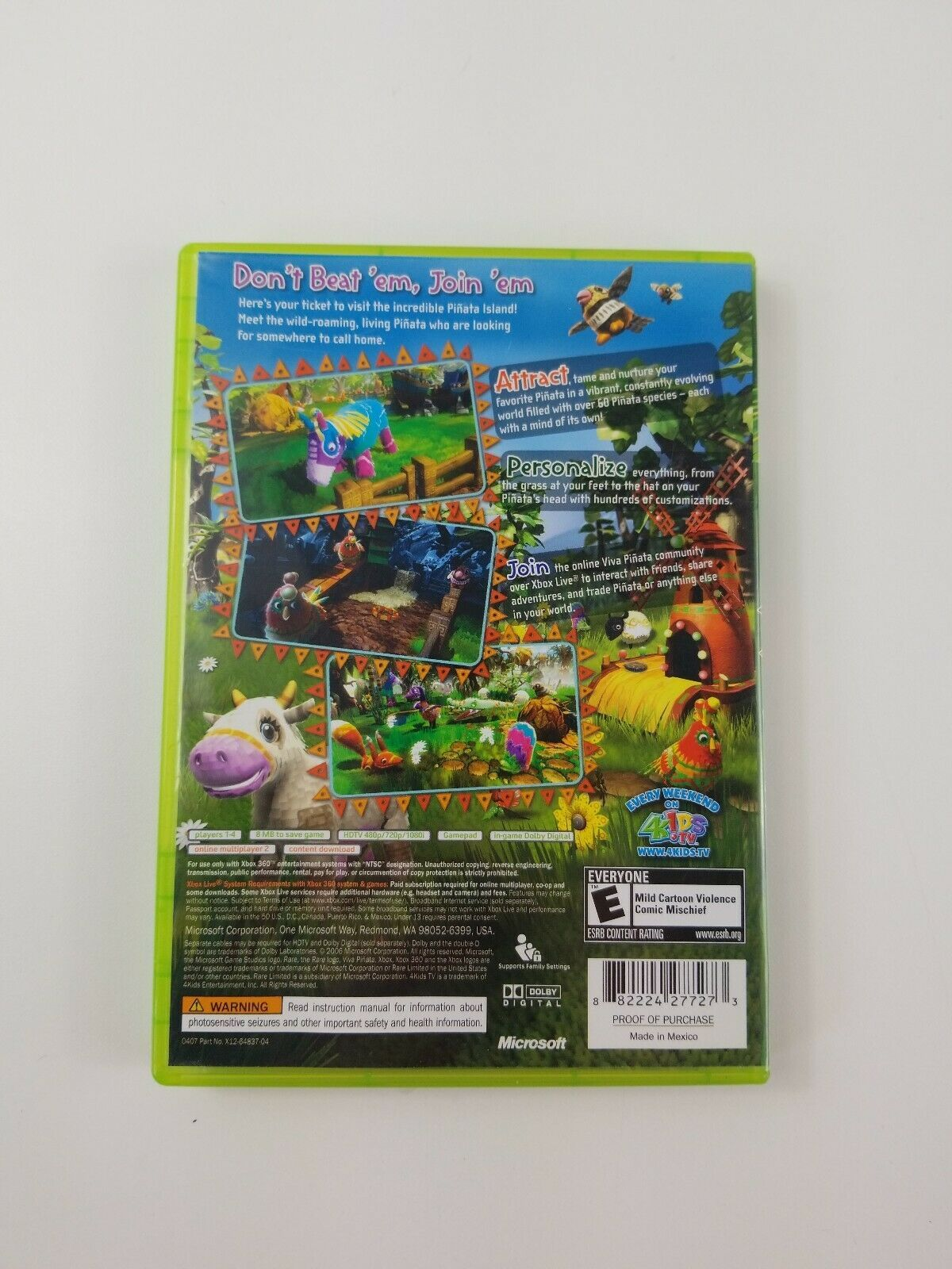 VIVA PINATA (Xbox 360 2006) Complete with Manual, Tested