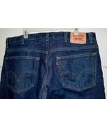 """Levi's Red Tab 517 Zip Up Boot Cut Dark Wash Size 40"""" x 25"""" Blue Denim J... - $15.29"""
