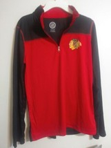 NHL Blackhawks Long Sleeve Shirt/Pullover Quarter Zip Boys L 12/14 NWT - $13.86