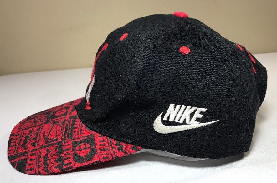 VTG Nike Hat Air Jordan Snapback Cap 90's Flight OG Bulls Michael Men Bulls