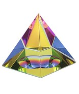 OwnMy Crystal Pyramid Iridescent Suncatchers Prism Rainbow Color with Gi... - $11.03