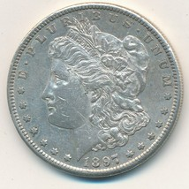 1897-S MORGAN SILVER DOLLAR-VERY NICE GENTLY CIRCULATED DOLLAR-SHIPS FRE... - $42.95