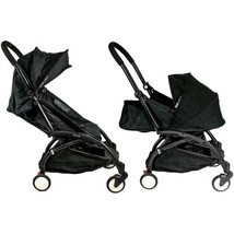Babyzen YOYO + 0+ and 6+ Black Stroller with Bassinet, Seat Canopy... - $666.59