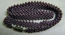 Vintage Hand beaded Lavender Purple Seed Bead Choker 14in - $14.00
