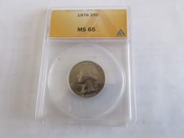 1976 , Washington Quarter , ANACS , MS 65 - $25.00