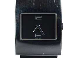 Auth GUCCI 4900L Black Dial Canvas & Leather Band Watch GW9618L - $224.25 CAD
