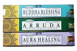 3 Box Deepika Incense Sticks Mix Assorted Fragrance Agarbatti Lot - $16.02