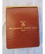 Gahna Men's Buffalo Calf Bi Fold Wallet Williamsport Shrine Club 1959 - $24.78