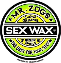 Zogs composite laminated circular wall plaque 25cm surfing sex wax - $32.00