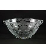 Cambridge Firenze Mayonnaise Bowl, Vintage Elegant Etched Glass Mayo Dis... - $39.20