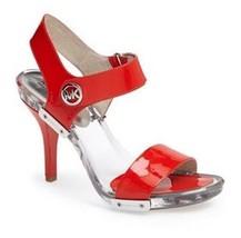 Women's Michael Kors LANI SANDAL Open Toe  Sandals Patent Leather Mandarin US 7 - $80.18