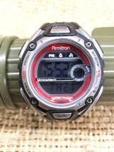 Armitron 45/6999-H78 Ladies Red Gray Digital Alarm Quartz Chronograph Watch - $11.25