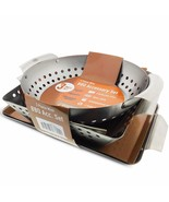 Multiple BBQ Grill Basket Grilling Vegetable Baskets Flat Pan Accessory ... - $64.14