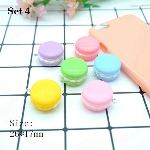 [DIY] Resin Sweet Macaron Ice-cream Popcorn Charm/Pendant for Kid Craft/Handmade