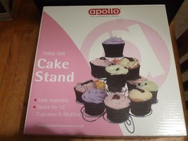 Cupcake Stand 3 Tier Party Display Muffin Holder Wedding Birthday Table ... - $9.88